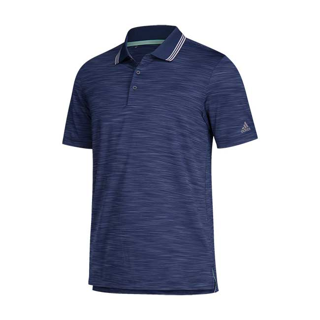Adidas Men's Short Sleeve Ultimate Textured Stripe Polo