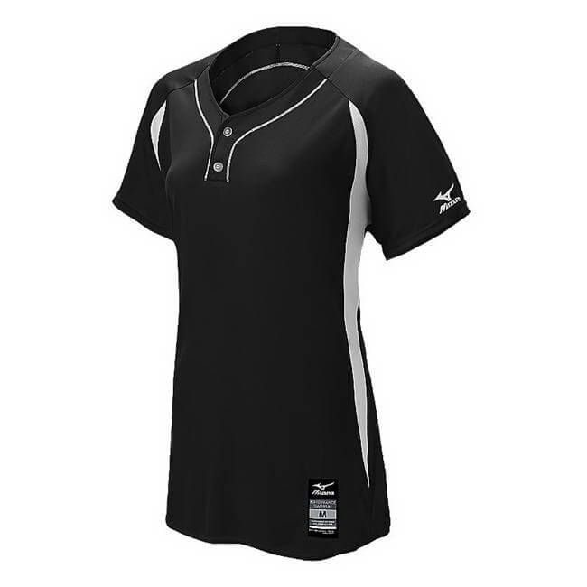 Mizuno Girl's's Girl's Elite 2-Button Game Jersey