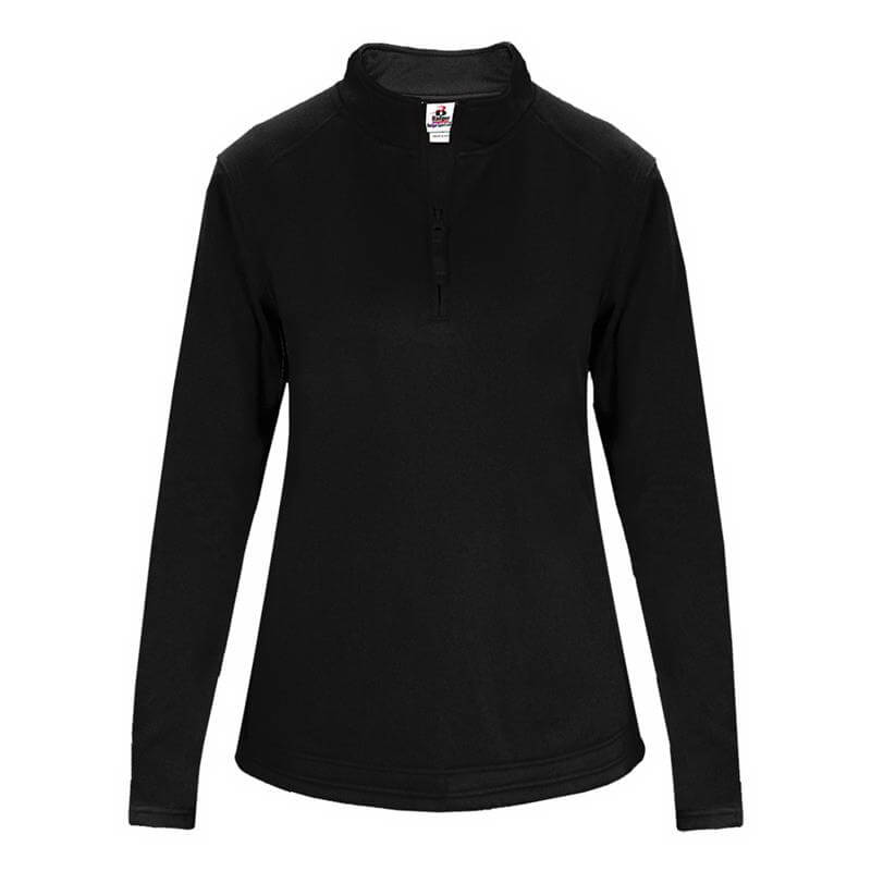 Badger Women's 1/4 Zip Poly Fleece Ladies Pullover