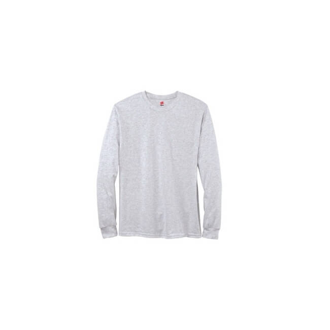 Hanes Men's 100% Cotton Tagless Longsleeve T-Shirt