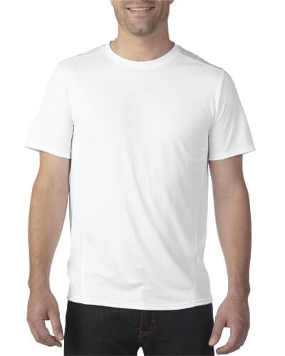 Gildan Men's Tech Shirt White