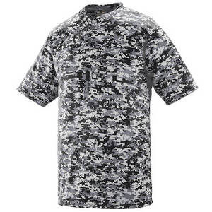 Augusta Men's Digi Camo Wicking Two-Button Jersey
