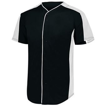 Augusta Men's Full Button Baseball Jersey