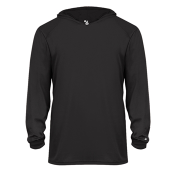 Badger Youth B-Core Hooded Long Sleeve