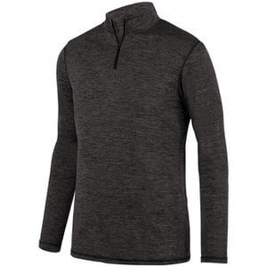 Augusta Men's Intensify Black Heather 1/4 Zip Pullover
