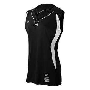 Mizuno Girl's's Grls Elite 2-Button Game Sleeveless Jersey