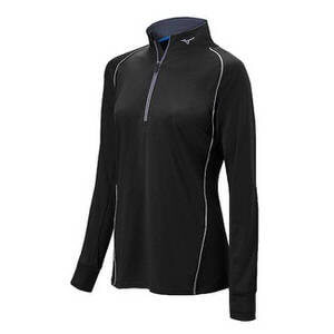Mizuno Girl's's Girl's Compression 1/2 Zip Hitting Top