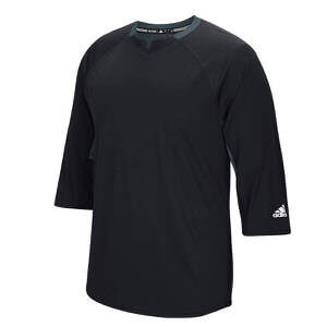 Adidas Men's Climalite Fielder's Choice 3/4 Sleeve Henley