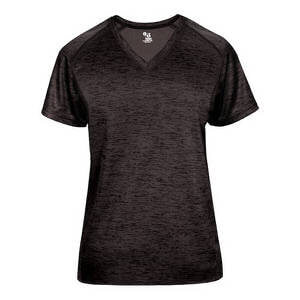 Badger Women's Tonal Blend Ladies V-Neck Tee