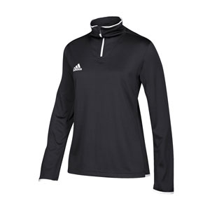 Adidas Women's Long Sleeve Team Iconic Knit 1/4 Zip Pullover