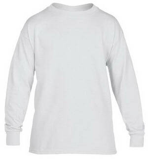 Gildan Youth Heavy Cotton Longsleeve T-Shirt White