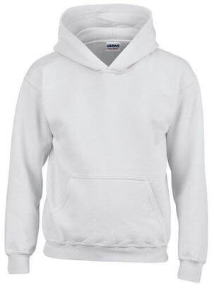 Gildan Youth Heavy Blended Hooded Sweatshirt White