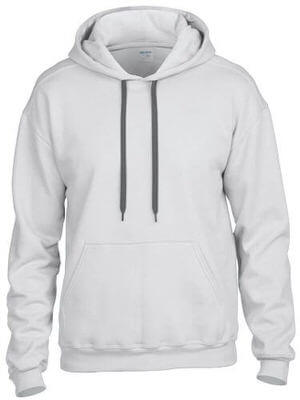 Gildan Men's Premium Ringspun Cotton Hooded Sweatshirt White