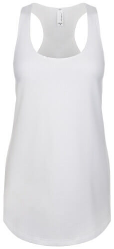 Next Level Women's Terry Racerback Tank White