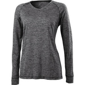Holloway Women's Electrify 2.0 V-Neck Long Sleeve Shirt