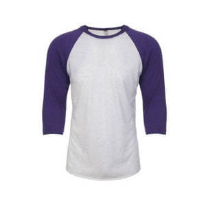 Next Level Unisex Tri-Blend Three-Quarter Sleeve Baseball Raglan Tee