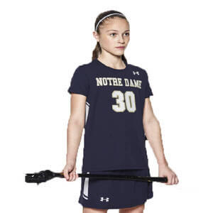 Under Armour Girl's Empire Shortsleeve Lacrosse Jersey
